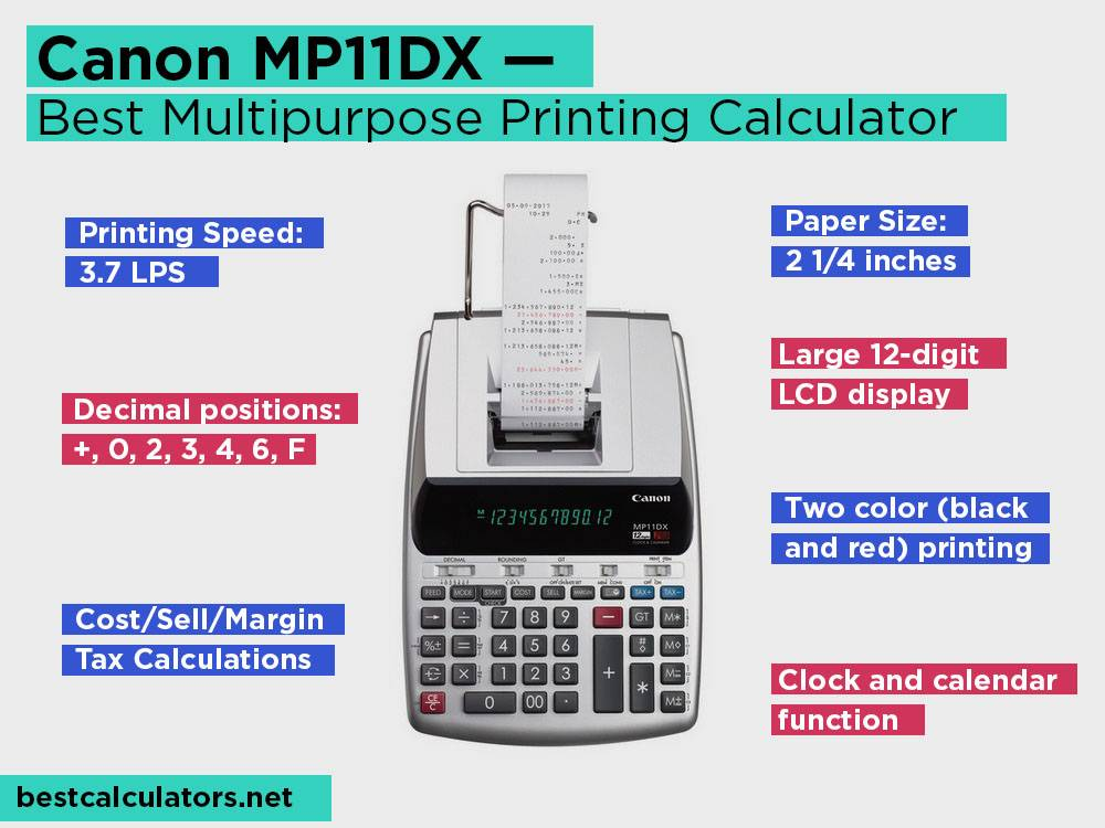 Canon MP11DX Review, Pros and Cons. Check our Best Multipurpose Printing Calculator 2018