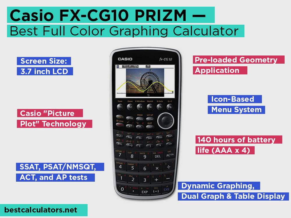 Casio FX-CG10 PRIZM Review, Pros and Cons. Check our Best Full Color Graphing Calculator 2018