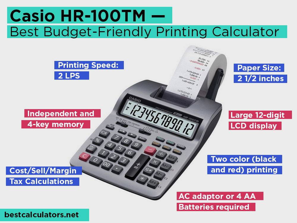 Casio HR-100TM Review, Pros and Cons. Check our Best Budget-Friendly Printing Calculator 2018