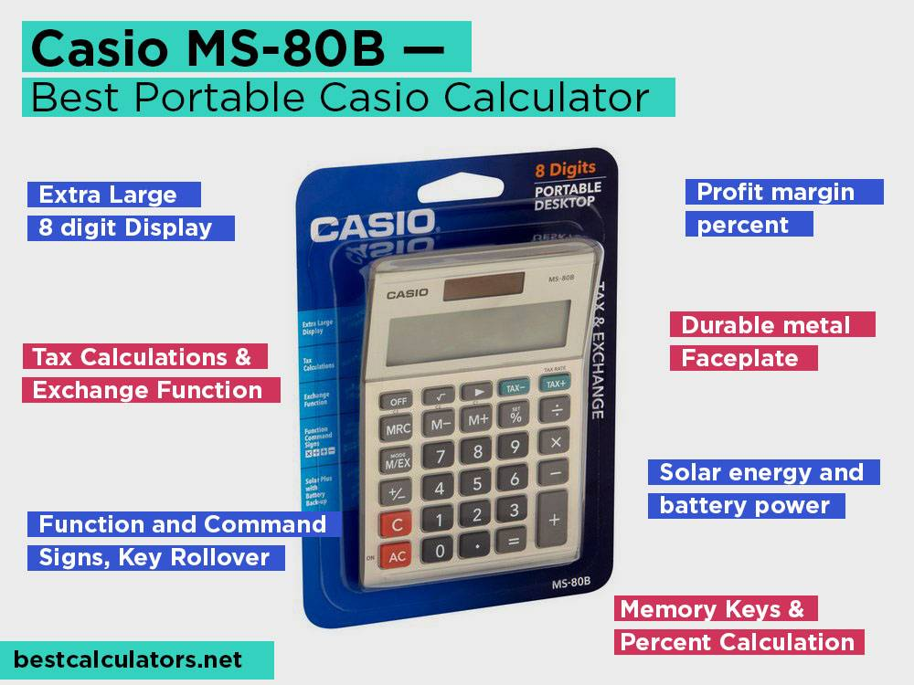 Casio MS-80B Review, Pros and Cons. Check our Best Portable Casio Calculator 2018