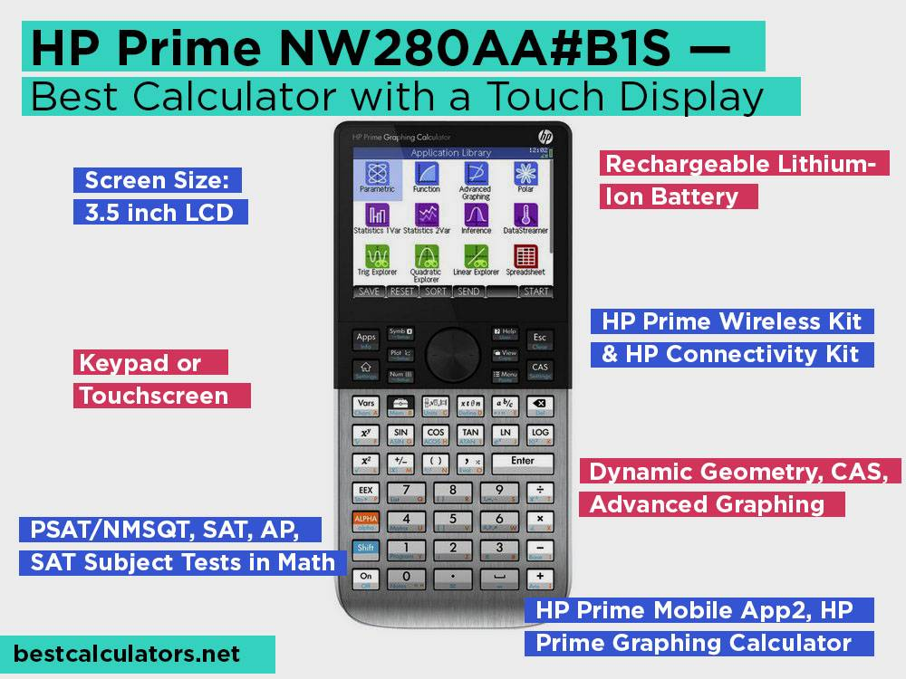 HP Prime NW280AA#B1S Review, Pros and Cons. Check our Best Graphing Calculator with a Touch Display for College 2018