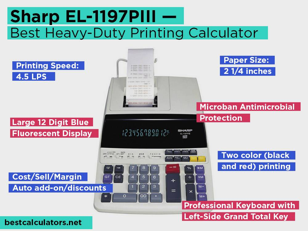 Sharp EL-1197PIII Review, Pros and Cons. Check our Best Heavy-Duty Printing Calculator 2018