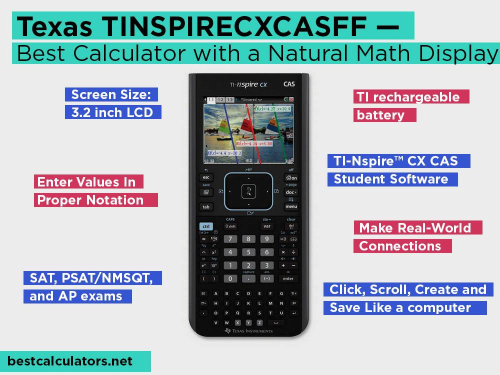 Texas TINSPIRECXCASFF Review, Pros and Cons. Check our Best Graphing Calculator with a Natural Math Display 2018