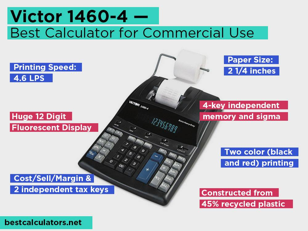 Victor 1460-4 Review, Pros and Cons. Check our Best Printing Calculator for Commercial Use 2018