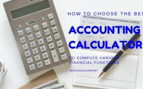 Best Accounting Calculator 2018