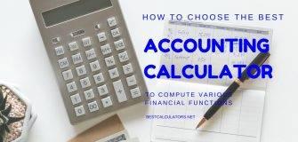Best Accounting Calculator 2018
