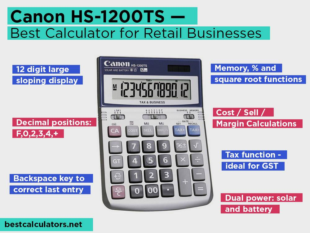 Canon HS-1200TS Review, Pros and Cons. Check our Best Desktop Calculator for Retail Businesses 2018