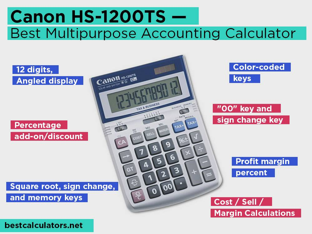 Canon HS-1200TS Review, Pros and Cons. Check our Best Multipurpose Accounting Calculator 2018