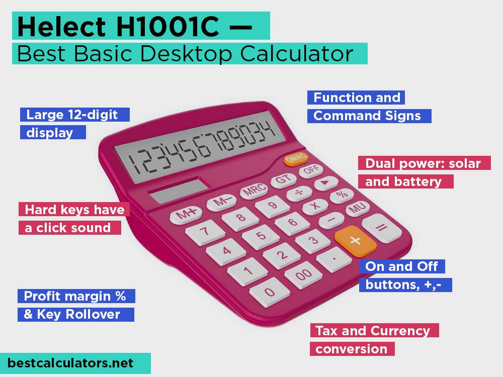 Helect H1001C Review, Pros and Cons. Check our Best Basic Desktop Calculator 2018