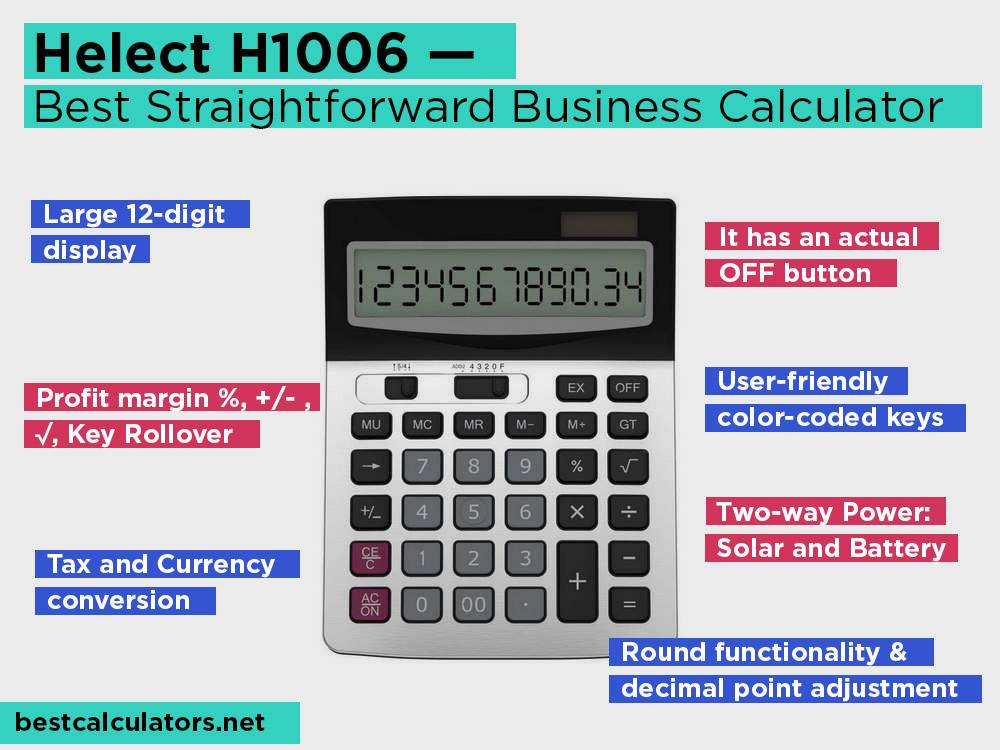 Helect H1006 Review, Pros and Cons. Check our Best Straightforward Business Accounts Calculator 2018