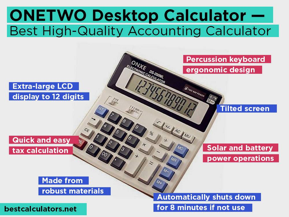 ONETWO Desktop Calculator Review, Pros and Cons. Check our Best High-Quality Accounting Calculator 2018