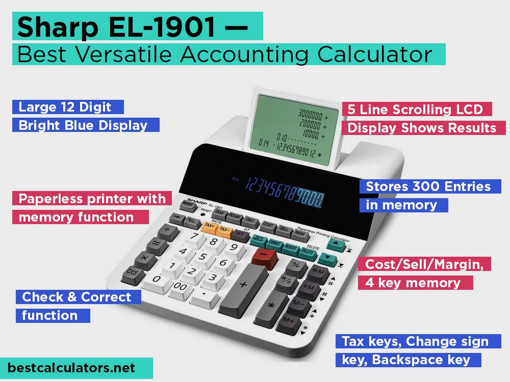 Sharp EL-1901 Review, Pros and Cons. Check our Best Versatile Accounting Calculator 2018