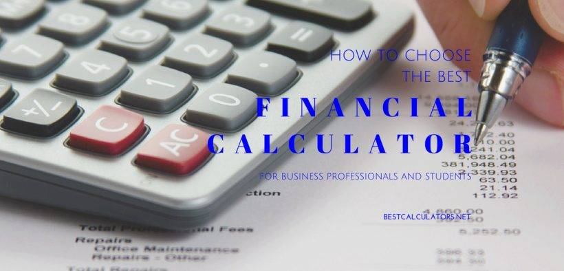 Best Financial Calculator 2018