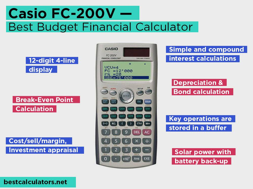 Casio FC-200V Review, Pros and Cons. Check our Best Budget Financial Calculator 2018