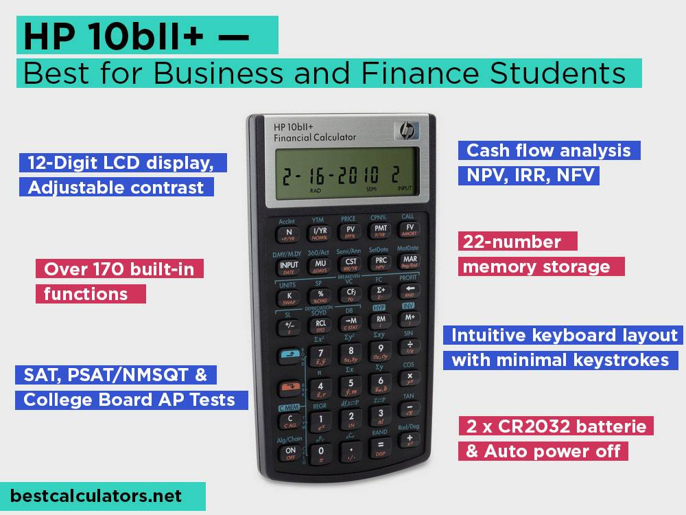 HP 10bII+ Review, Pros and Cons. Check our Best Easy to Use for Business and Finance Students 2018