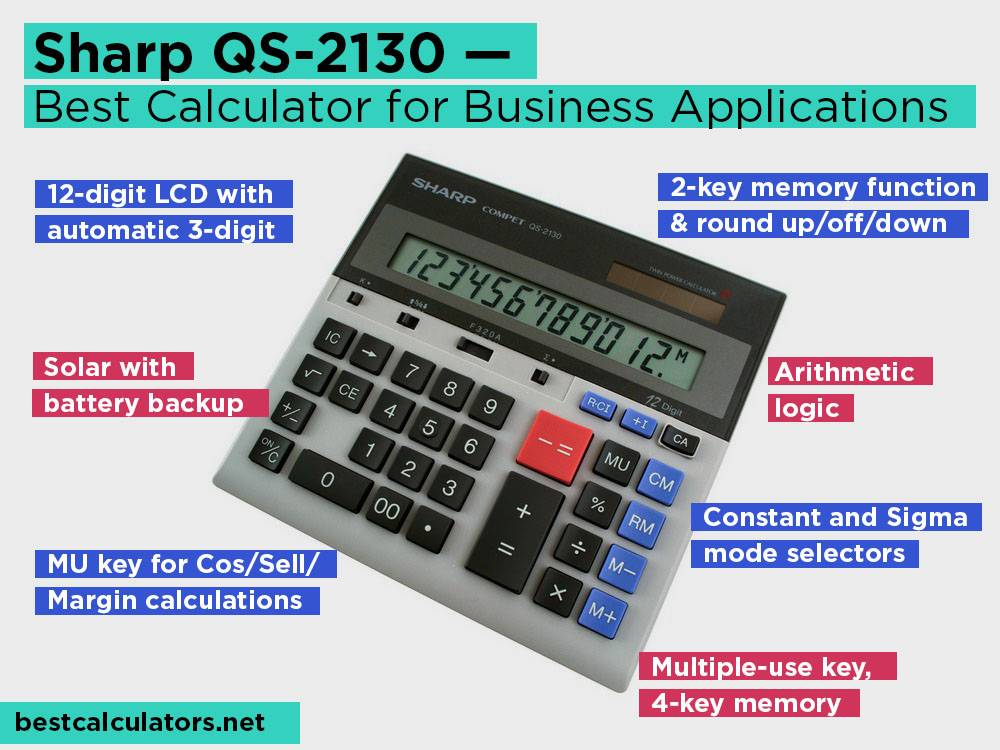 Sharp QS-2130 Review, Pros and Cons. Check our Best Finance Calculator for Business Applications 2018