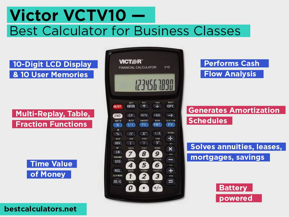 Victor VCTV10 Review, Pros and Cons. Check our Best Statistics Calculator for Business Classes 2018
