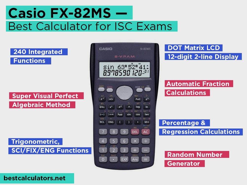 Casio FX-82MS Review, Pros and Cons. Check our Best Calculator for ISC Exams 2018
