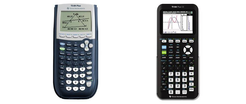 TI-84 Plus versus TI-84 Plus CE