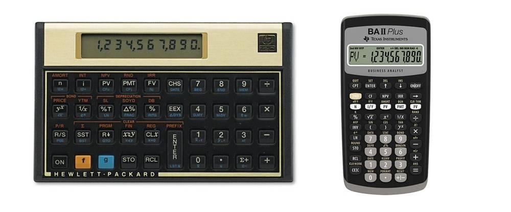 HP 12C vs TI BA II+