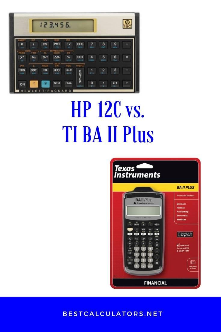 HP 12C vs TI BA II Plus